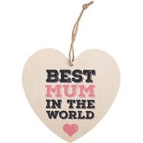 Best Mum Hanging Heart
