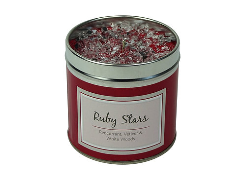 Ruby Stars Candle