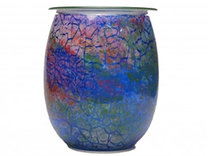 Crackle Effect Glass Aroma Lamp
