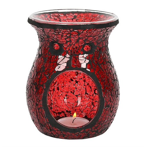 Red Crackle Wax/Oil Burner