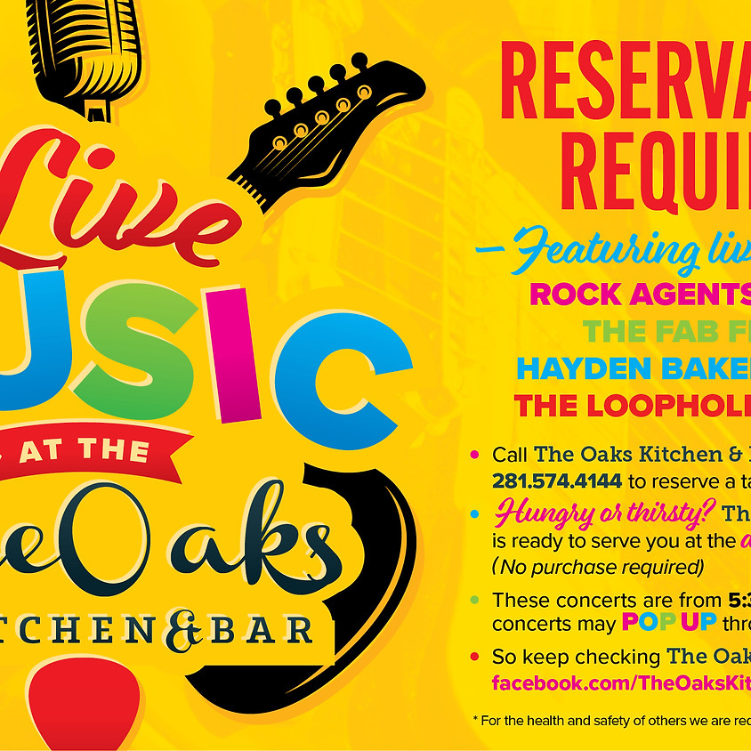 Live Music at The Oaks with Rock Agents!