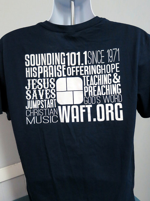 WAFT logo shirt - Word design Navy