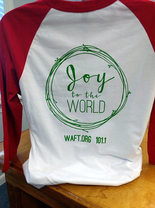 "Christmas T-shirt ""Joy"" (3/4 sleeves)"