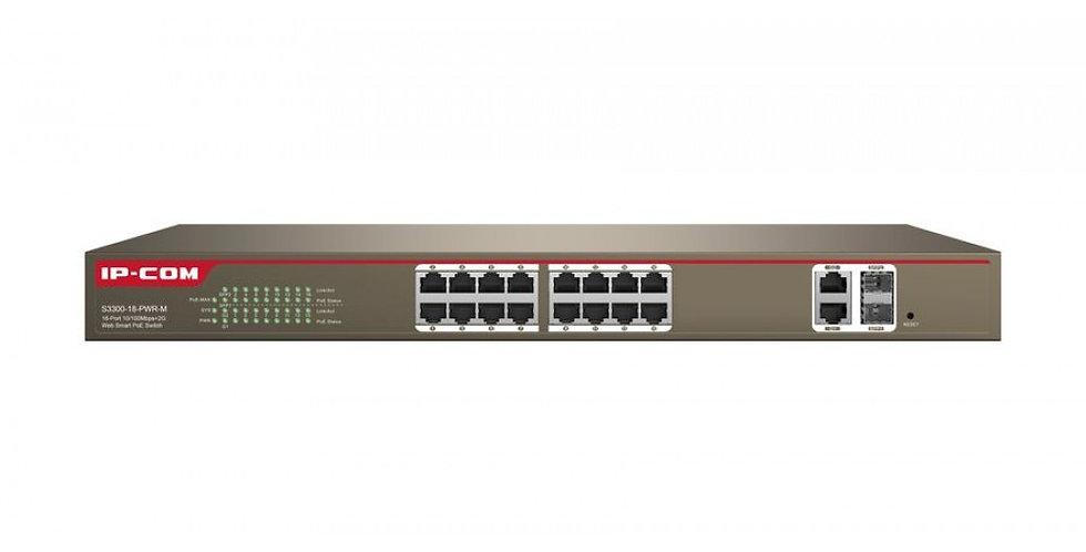 Switch 16 porte 10/100 con 2 porte gigabit/SFP combo con supporto Web-Sma