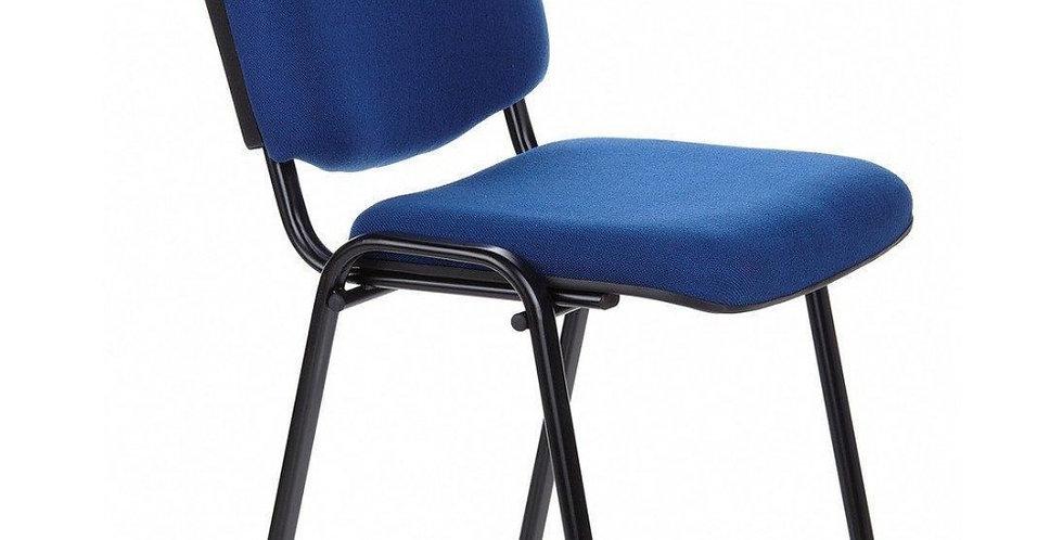 10 PZ. Sedia da Conferenza in Tessuto Blu