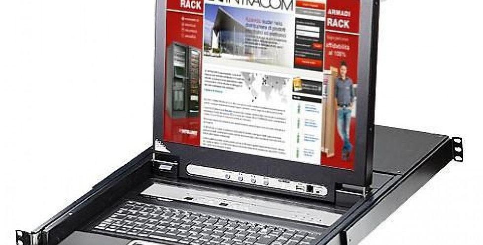 'Switch KVM USB-PS2 VGA 8 Porte con LCD 17'''' e Porta USB'