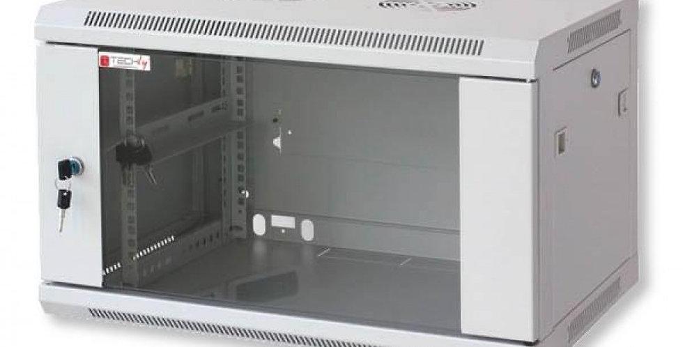 'Armadio Rack 19'''' a muro 9 unit� prof.450 Grigio da Assemblare Techly'