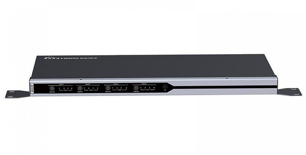 HDMI Matrix 4x4 Switch 4K con controllo IR/RS232