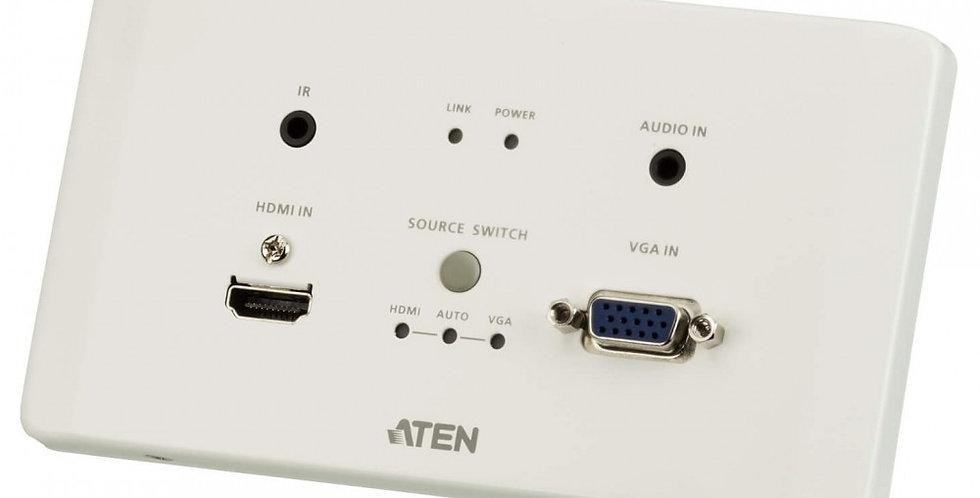 Trasmettitore HDMI e VGA HDBaseT con piastra da parete UE 4K VE2812UET