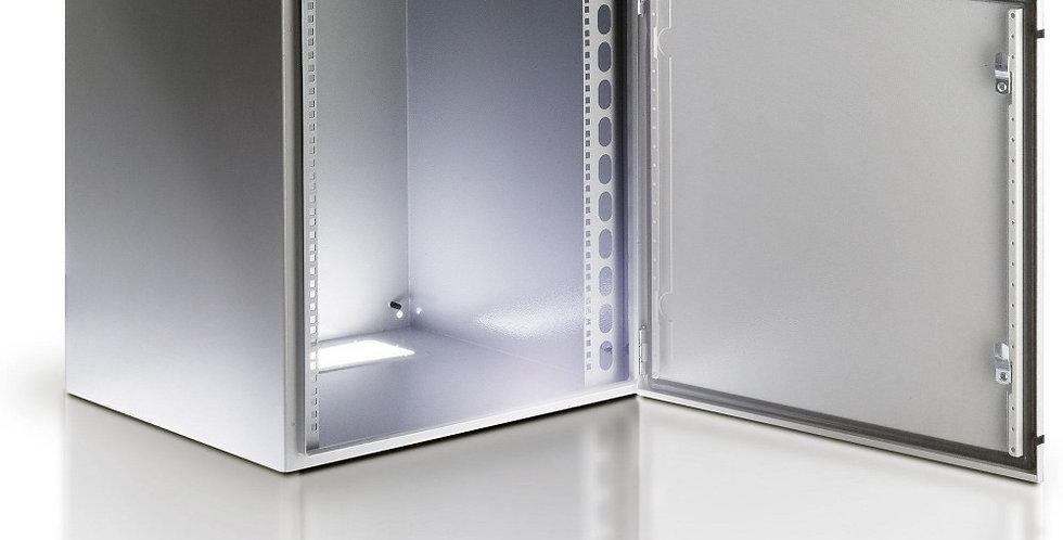 'Armadio Rack 19'''' a muro 17U grigio IP65 porta vetro'