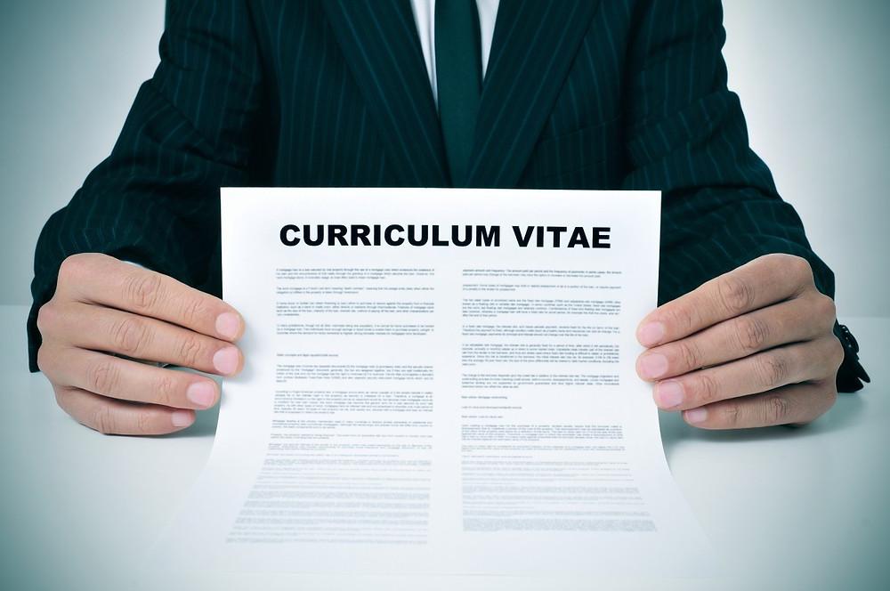 A professionally written CV
