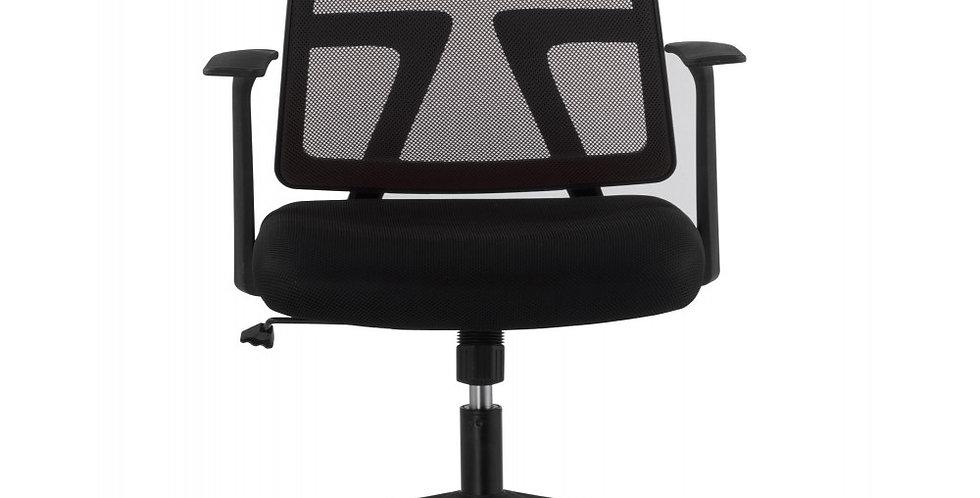 Sedia da ufficio con seduta imbottita e schienale in rete