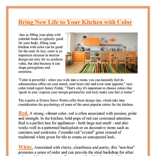Ad Sponsor- New Life to your Kitchen