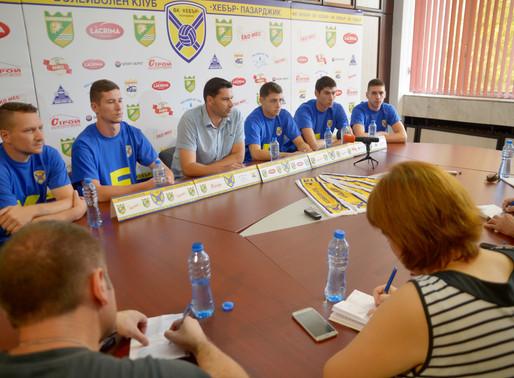 На пресконференция на ВК Хебър бяха представени петима от състезателите на отбора за новия сезон