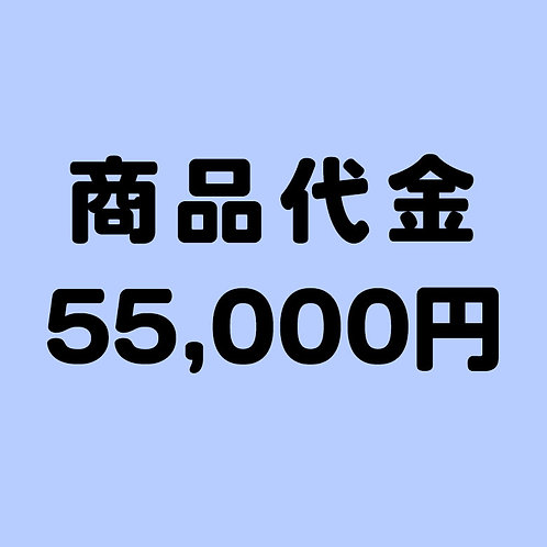 商品代金 55000円