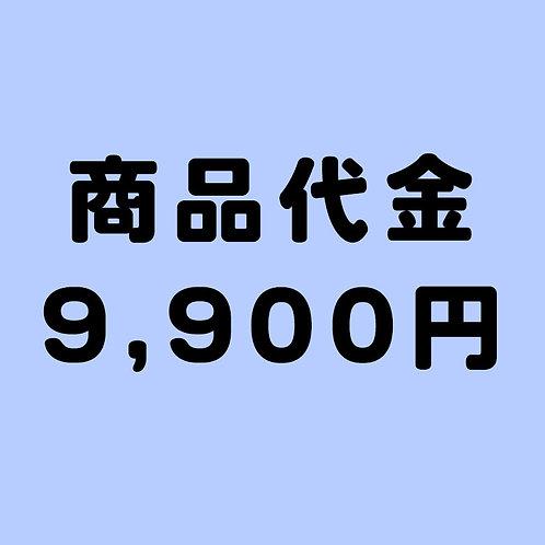 商品代金 9900円