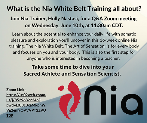 What is the Nia White Belt training all