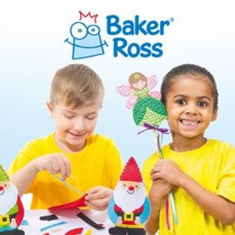 Smiling children doing crafts