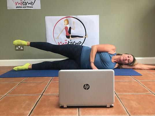 Online Pilates class