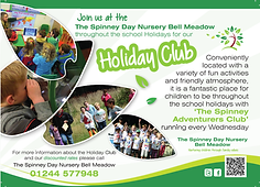 Spinney Day Nursesry Holiday Club poster