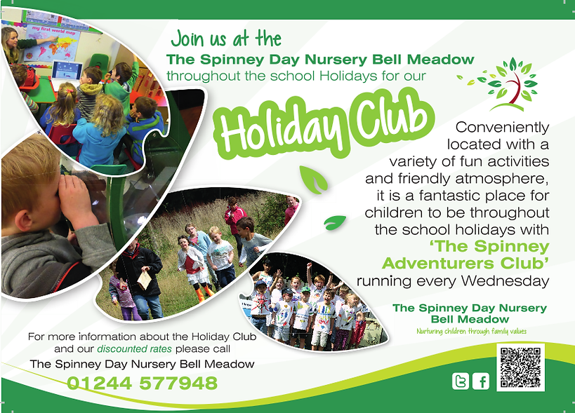 Spinney Day Nursery Holiday Club Chester poster