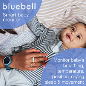 Photo of baby with a Bluebell Baby Monitor