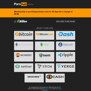Update, Pornhub's Premium Services Now Default to Crypto Payments only!!