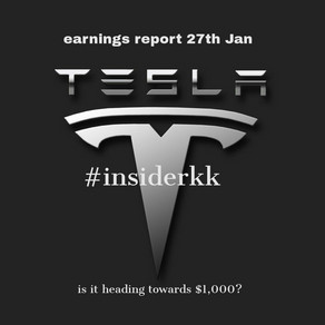 The ultimate investment of 2020? Tesla reports end of month 27th Jan 2021.