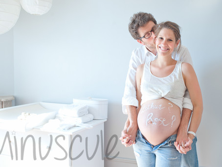 At home - 8 months pregnant - West Hollywood maternity photography