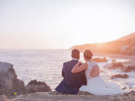 Julie & Ricardo - Wedding session on the beach in Los Angeles
