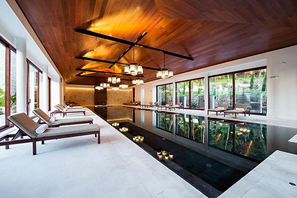 아름다운 스파 수영장