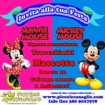 Animazione Bambini Festa a Tema Minnie e Topolino