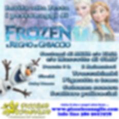 Animazion Bambini Festa a Tema Frozen Volantino Festa