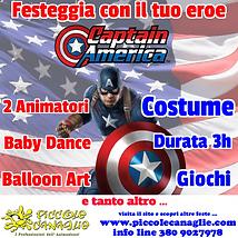Animazione Bambini Festa a Tema Captain America