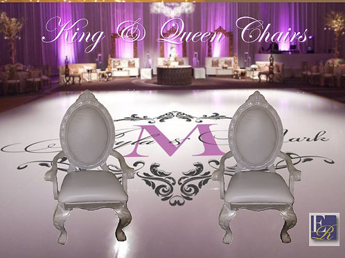 King & Queen Chair Set