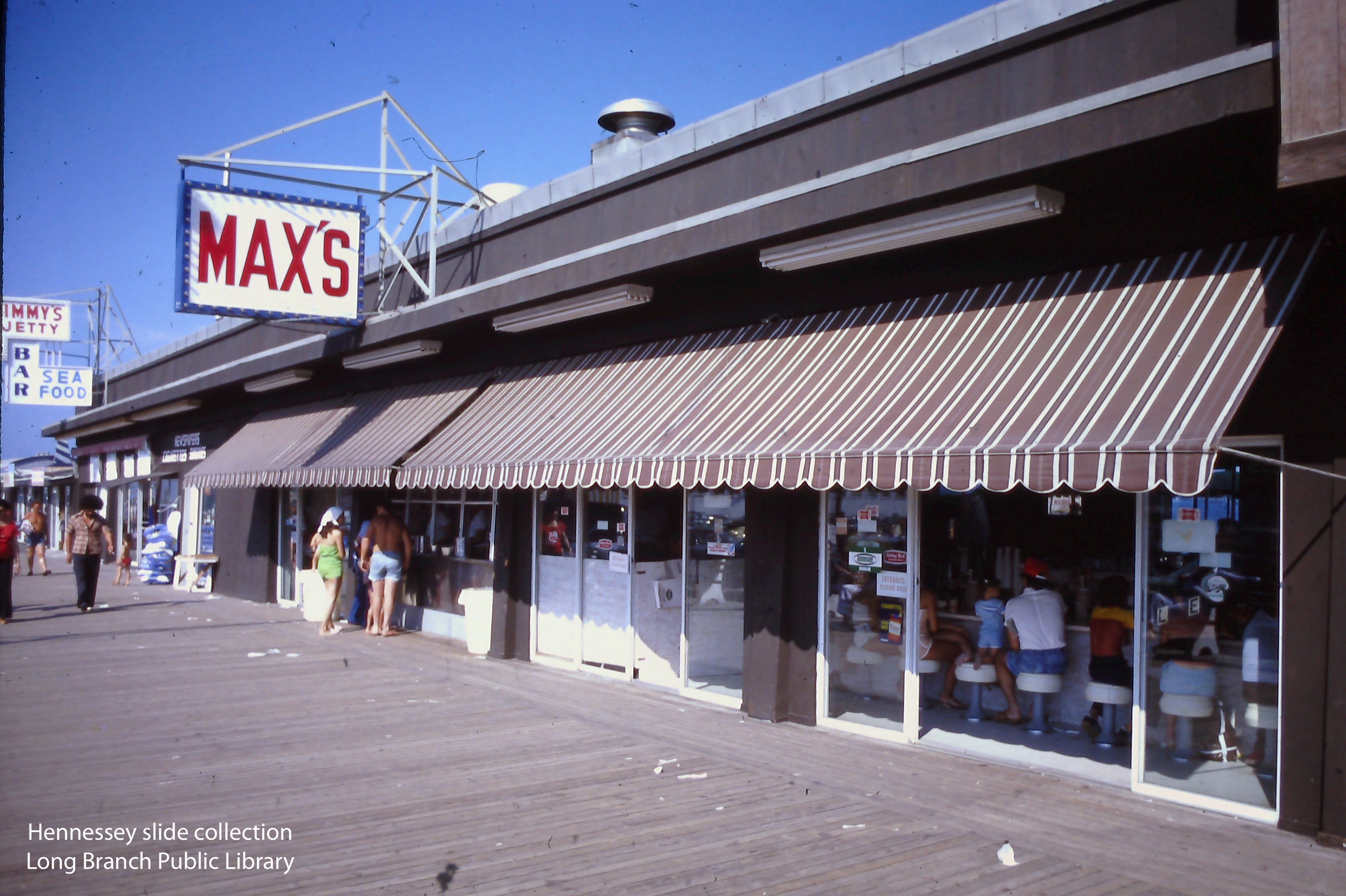 Max_s Hot Dog stand on the boardwalk