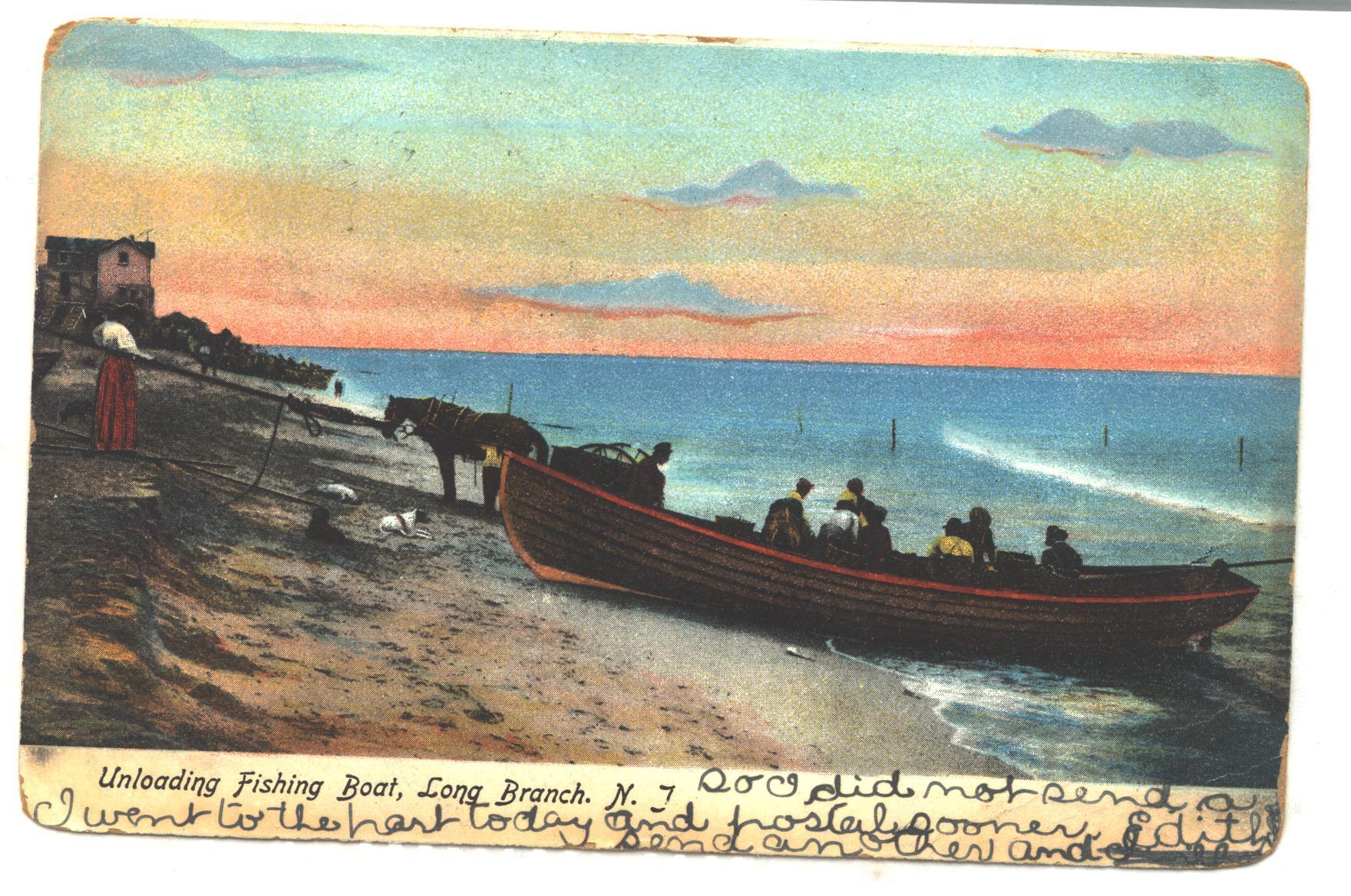 1906 Unloading Fishing Boat