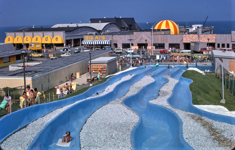 Water Slide on the  boardwalk