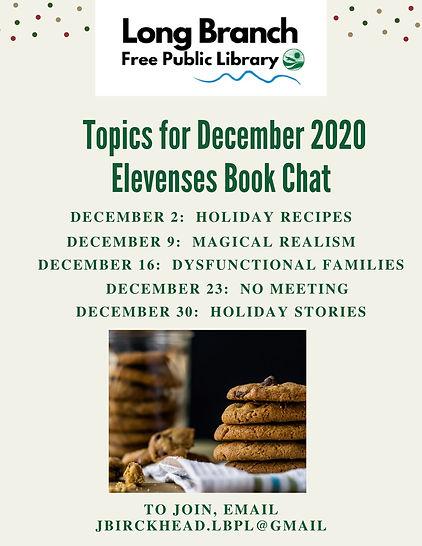 Topics for December 2020 Elevenses Book
