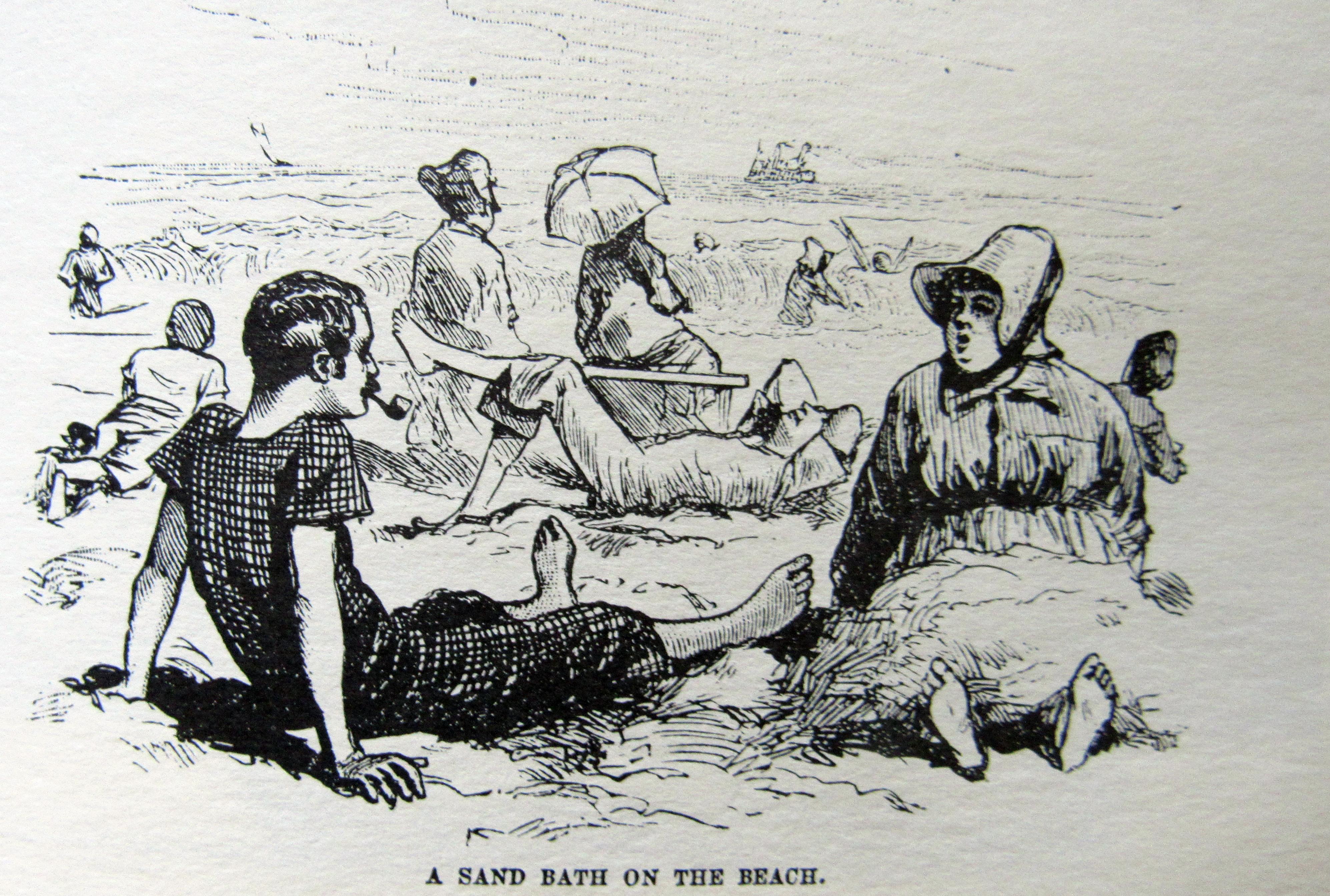 A Sand bath on the beach