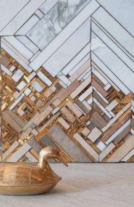 мозаика стекло и мрамор