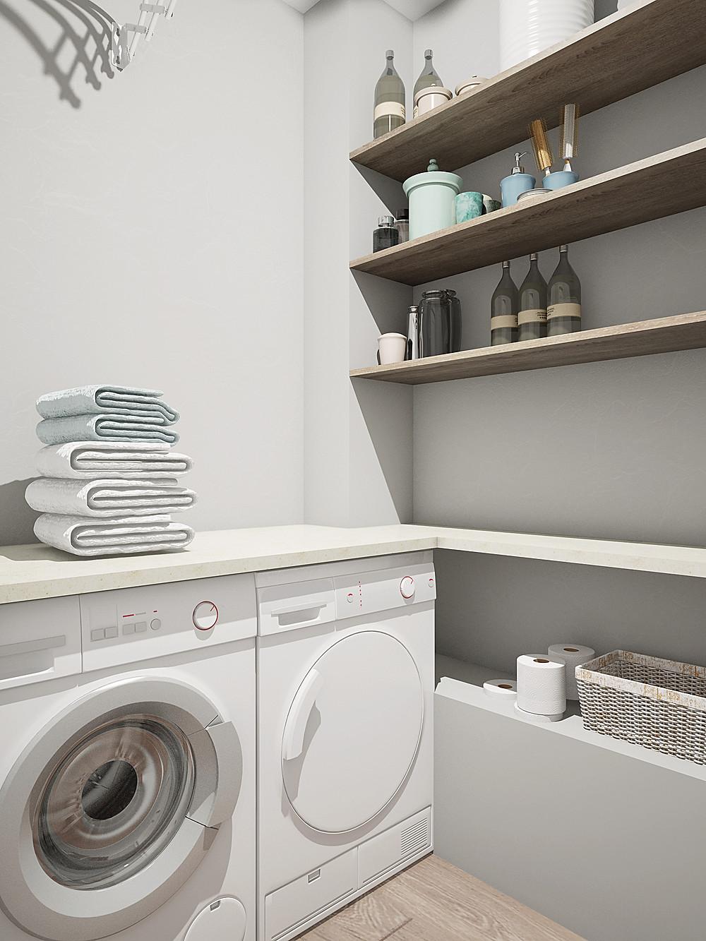стиральная машинка в постирочной