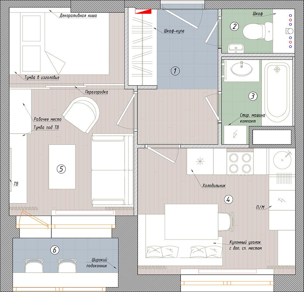 планировка кухни гостиной перегородка раздвижная