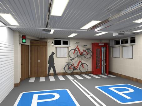 Интерьер гаража