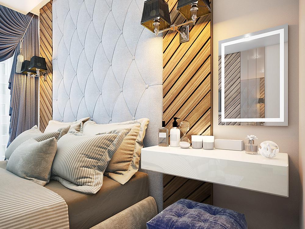 ар-деко в дизайне интерьера спальни