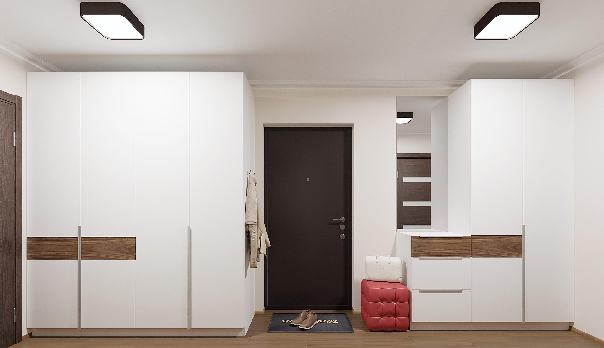 белые шкафы в прихожей