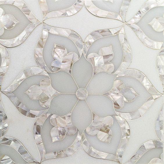 мозаика  цветы мрамор и перламутр