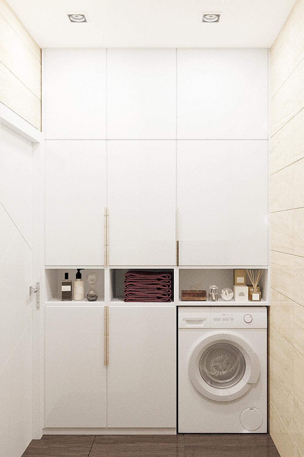 стиральная машинка в шкафу