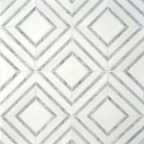 мозаика ромбы из мрамора