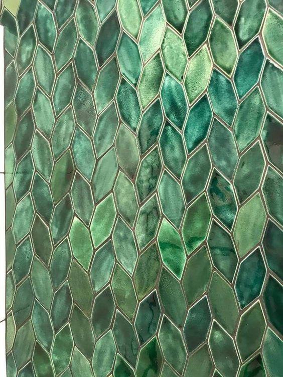 мозаика зеленая керамическая